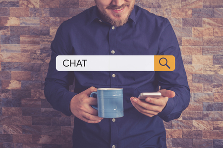 chat: CHAT Concept Stock Photo