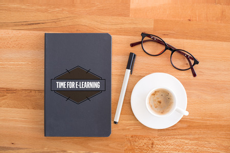 TIME FOR E-LEARNING CONCEPT