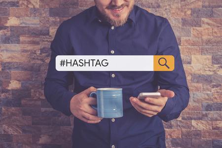 #HASHTAG Concept Standard-Bild
