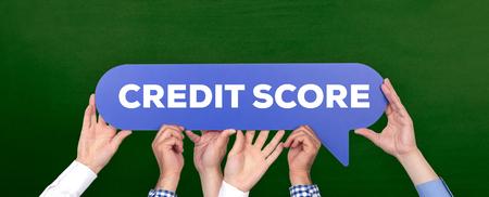 creditworthiness: CREDIT SCORE CONCEPT Stock Photo