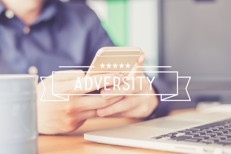 adversity: ADVERSITY Concept Stock Photo