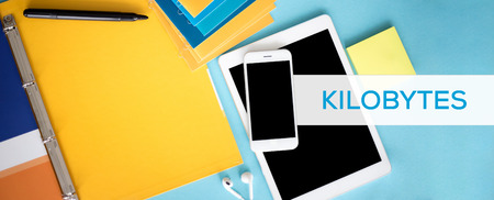 megabytes: KILOBYTES CONCEPT Stock Photo