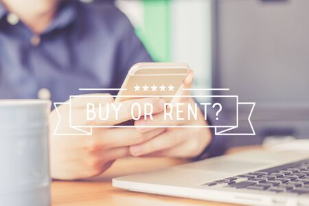BUY OR RENT? Concept Stock Photo