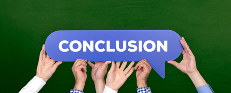 inference: CONCLUSION CONCEPT Stock Photo