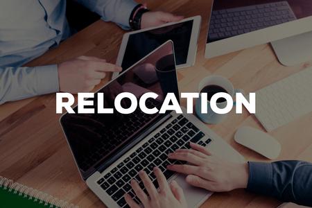 relocation: RELOCATION CONCEPT Stock Photo