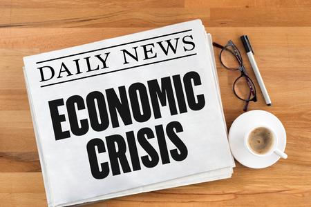 crisis economica: ECONOMIC CRISIS Foto de archivo