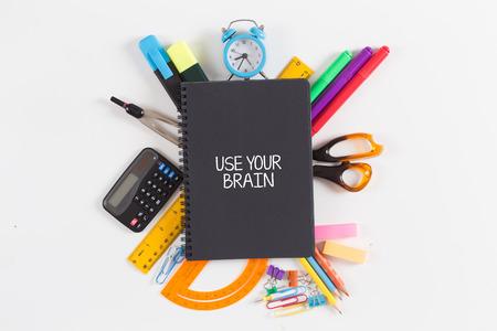USE YOUR BRAIN concept Фото со стока