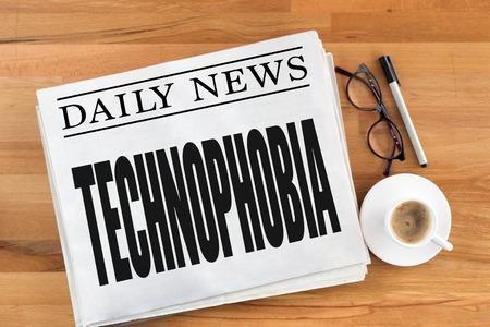 TECHNOPHOBIA Stock Photo