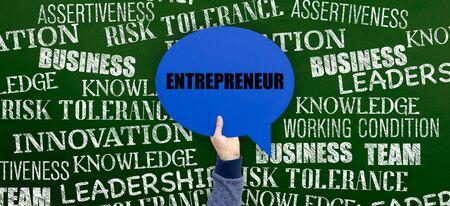 owner money: Entrepreneur Written Speech Bubble on Blackboard Stock Photo