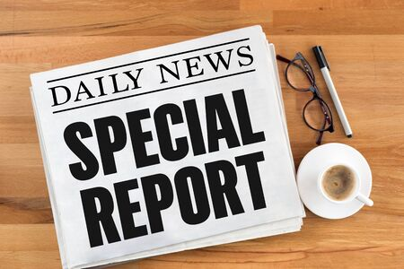 biased: SPECIAL REPORT Stock Photo