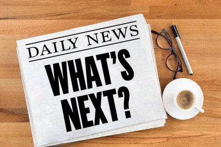 what's ahead: WHATS NEXT? Stock Photo