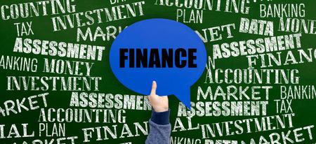 place to learn: Finance Written Speech Bubble on Blackboard