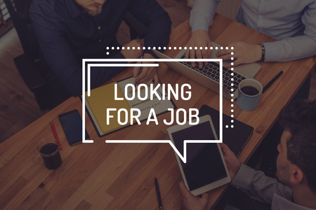 LOOKING FOR A JOB CONCEPT