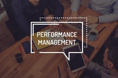 intervenes: PERFORMANCE MANAGEMENT CONCEPT Stock Photo
