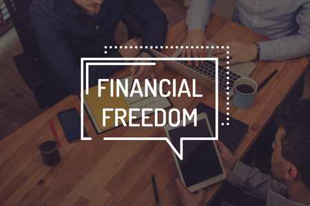conservative: FINANCIAL FREEDOM CONCEPT Stock Photo
