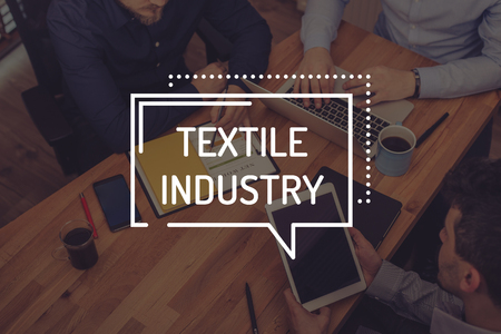 industry: TEXTILE INDUSTRY CONCEPT Stock Photo