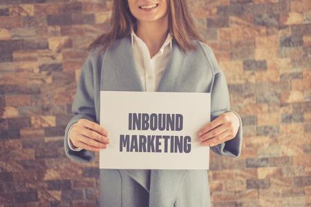 inbound: INBOUND MARKETING CONCEPT Stock Photo