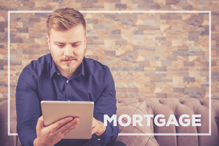 borrowing: MORTGAGE CONCEPT Stock Photo