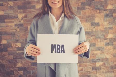 master degree: MBA CONCEPT Stock Photo
