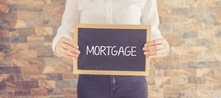 repayment: MORTGAGE CONCEPT Stock Photo