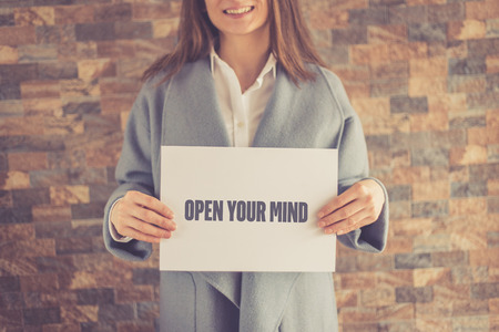 receptive: OPEN YOUR MIND CONCEPT Stock Photo