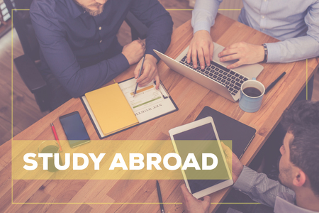 study: STUDY ABROAD CONCEPT Stock Photo