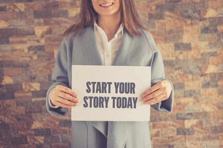 START YOUR STORY TODAY CONCEPT