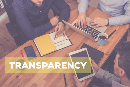 TRANSPARENCY CONCEPT Stock Photo