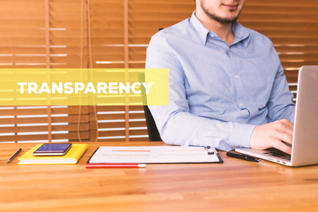explicit: TRANSPARENCY CONCEPT Stock Photo