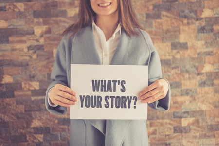 WHATS YOUR STORY? CONCEPT Stock Photo