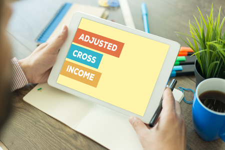exemptions: ADJUSTED CROSS INCOME CONCEPT Stock Photo