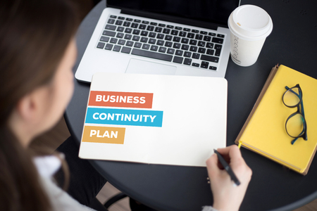 drp: BUSINESS CONTINUITY PLAN CONCEPT Stock Photo