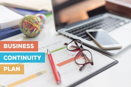 BUSINESS CONTINUITY PLAN CONCEPT Banque d'images