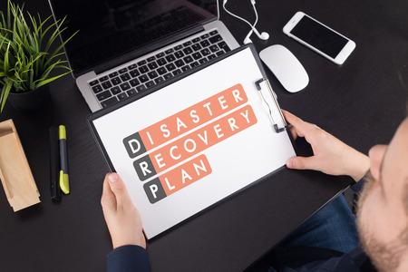 Disaster Recovery Plan Acronmy 스톡 콘텐츠