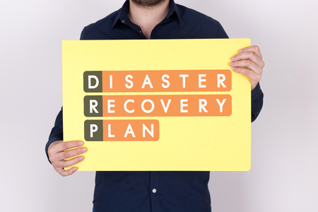 drp: Disaster Recovery Plan Acronmy Stock Photo