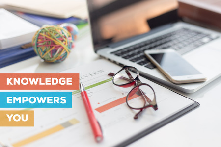 KNOWLEDGE EMPOWERS YOU CONCEPT Stock Photo