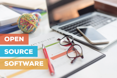 variable: OPEN SOURCE SOFTWARE CONCEPT Stock Photo