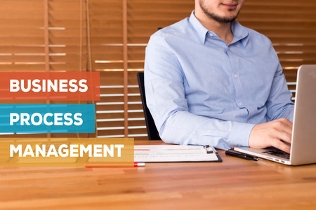 bpm: BUSINESS PROCESS MANAGEMENT CONCEPT Stock Photo