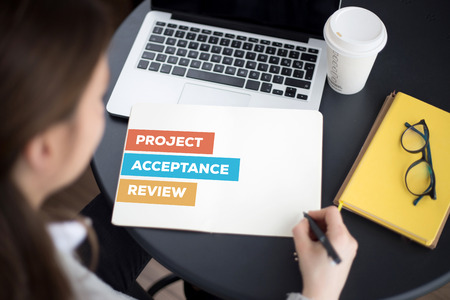 acceptable: PROJECT ACCEPTANCE REVIEW CONCEPT Stock Photo