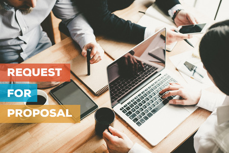 REQUEST FOR PROPOSAL CONCEPT Фото со стока - 72528791