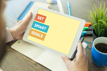 SET SMART GOALS CONCEPT Stock Photo