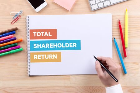 shareholder: TOTAL SHAREHOLDER RETURN CONCEPT Stock Photo