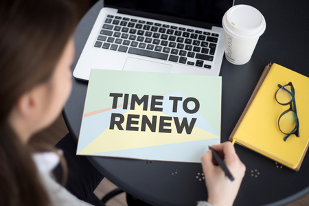 resurrect: TIME TO RENEW CONCEPT Stock Photo