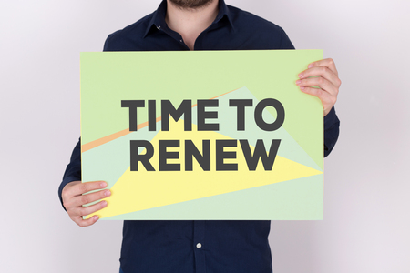 TIME TO RENEW CONCEPT Stock Photo