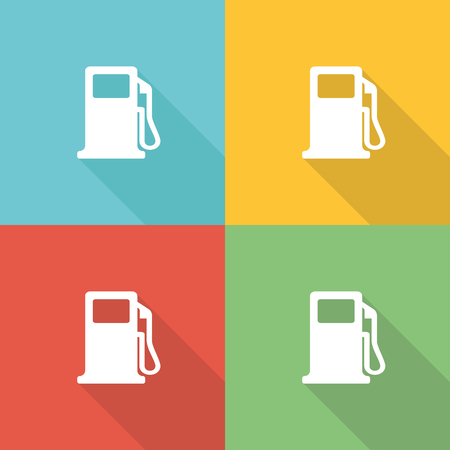 Gas Station Flat Icon Concept
