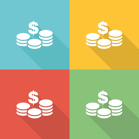 expenditure: Budget Spending Flat Icon Concept