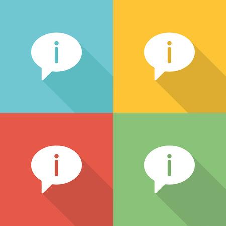 financial advice: Advice Flat Icon Concept Illustration