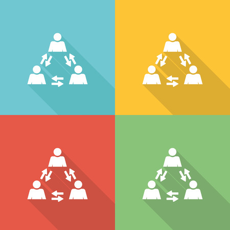 Coordinate Flat Icon Concept Illustration