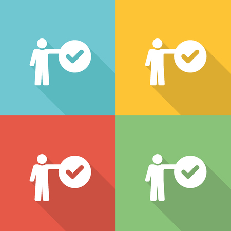 expertise: Expertise Flat Icon Concept