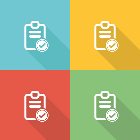 competence: Competence Flat Icon Concept Illustration